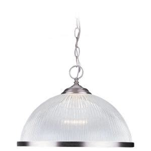 kitchens with pendant lights sea gull lighting clear prismatic 1 light brushed nickel 6641
