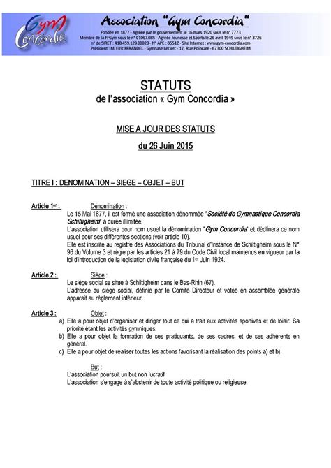 demission du bureau d une association loi 1901 association loi 1901 changement bureau changement du