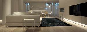 tapis chic votre tapis dans un salon a la decoration epure With tapis kilim avec canape meridienne noir
