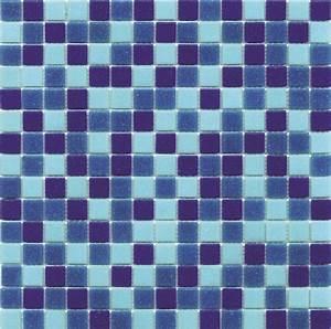 Mosaique piscine 20x20 mm Mix de bleu 32 7x32 7 cm Mosaïque piscine As de carreaux