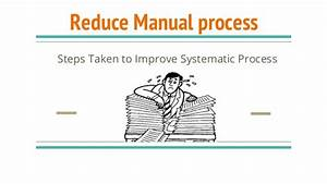 This Is A Right Time To Reduce Manual Process And