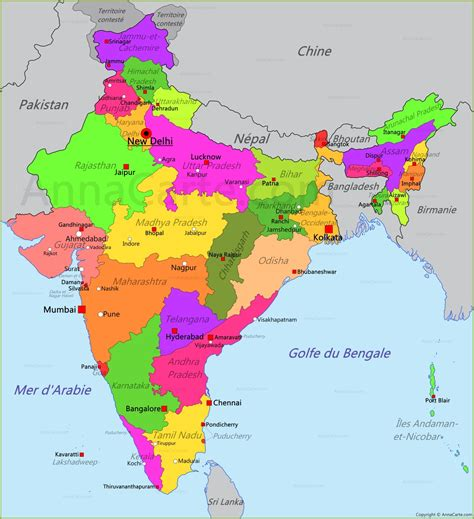 Indien Carte Du Monde by Inde Carte Arts Et Voyages
