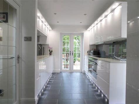 galley kitchen ideas uk remo gloss white anglia interiors 3706