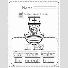 Christopher Columbus Toddler Unit  Preschool Printables