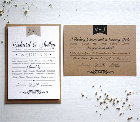 elegant type vintage wedding invitation by rodo creative