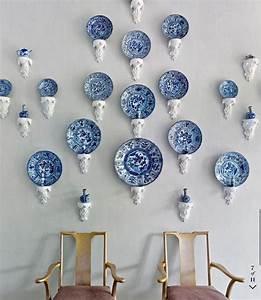 Blue, U0026, White, Wares, Mounted, On, Decorative, Corbels, Brackets