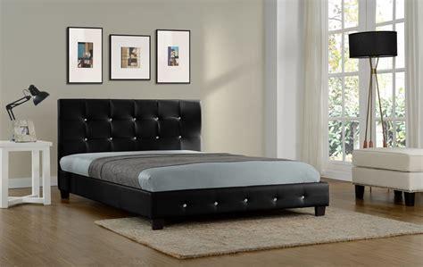 cadre de lit capitonne lit notting hill cadre de lit en simili cuir capitonn 233 noir 140x190cm