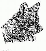 Coloring Pages Adults Shepherd German Printable Animal Adult Colouring Sheets sketch template