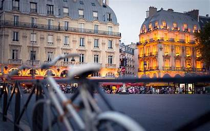 Paris Background Street Buildings Backgrounds Wallpapers Night