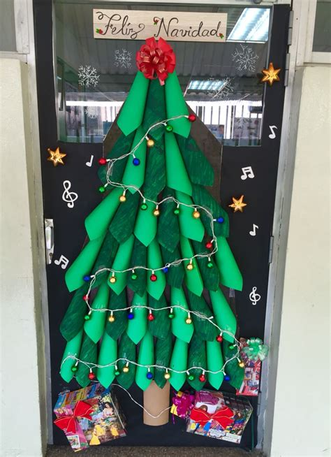 diy christmas tree classroom door decorations my classroom door 2015 2016 i m excited because comes this beautiful