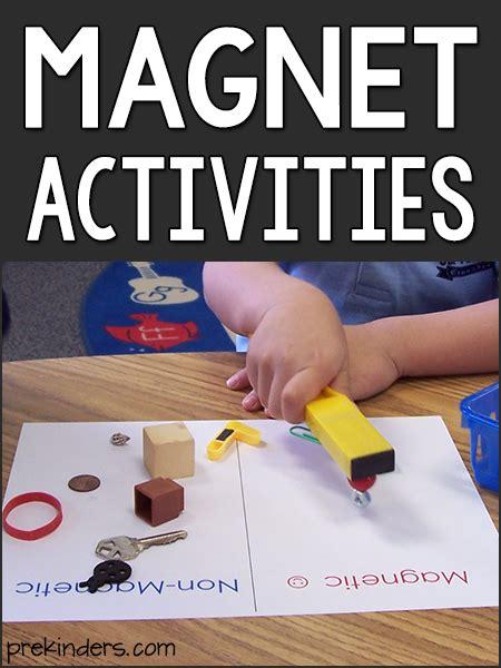 magnet experiments  pre  preschool kids prekinders