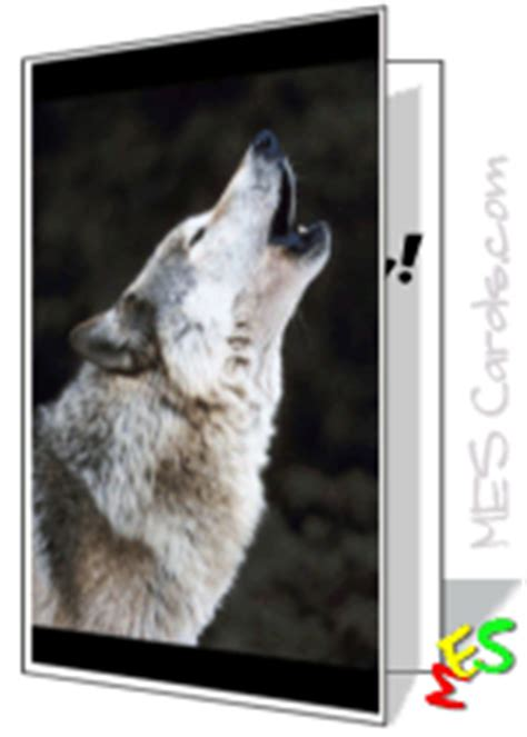 greeting card maker wolf pack cards