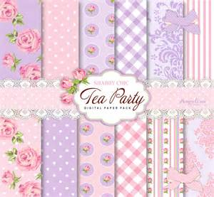 vintage invitations 35 tea party border clip