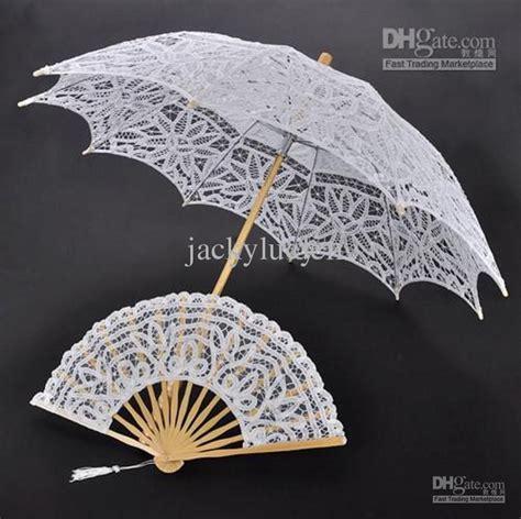 cotton lace embroidery ladies parasol bridal