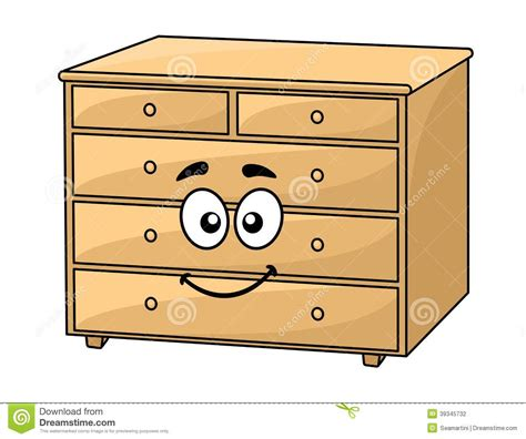 wooden chest of drawers stock vector image 39345732