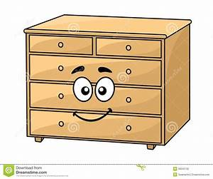 Cartoon Wooden Chest Of Drawers Stock Vector - Image: 39345732