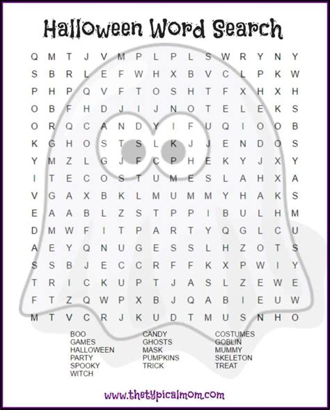 halloween word search printables   ages