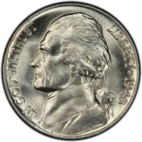 nickel values 1943 jefferson nickel values and prices past sales coinvalues com