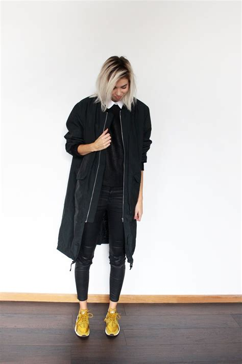 Hu0026M TREND coat DESIGNERS REMIX top COS collar ZARA pants NIKE Huarache Bronzine | 2016 ...