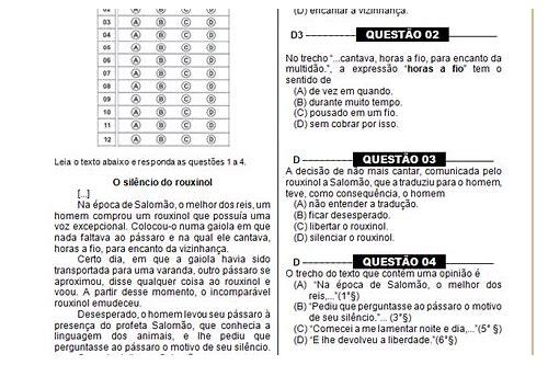 baixar prova brasil 9 ano portugues