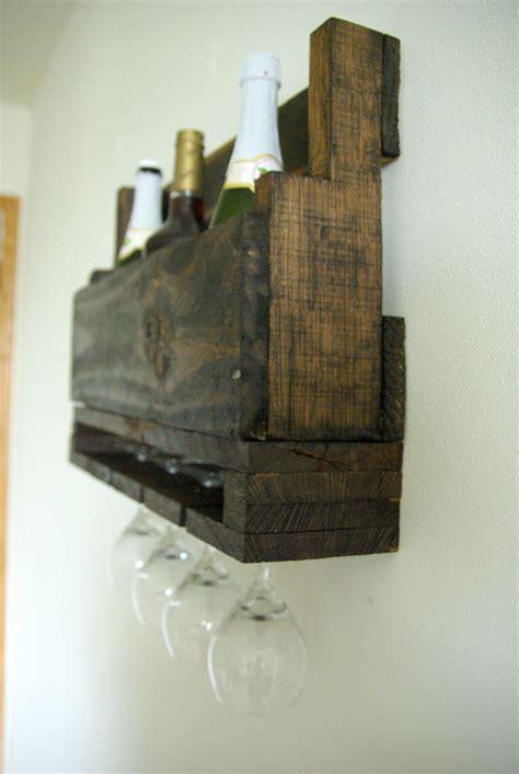diy wall mounted wine racks   pallets