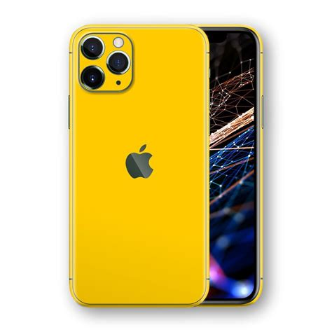 iPhone 11 Pro MAX Glossy GOLDEN YELLOW Skin / Wrap / Decal ...