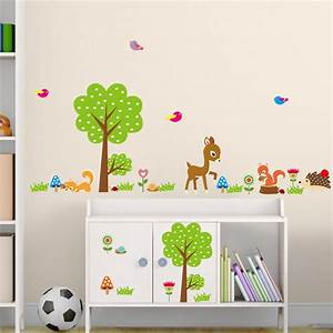 online buy wholesale deer stickers from china deer With kitchen cabinets lowes with woodland animal wall art