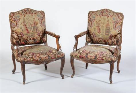 pair of louis xv style beechwood fauteuils 192 la reine