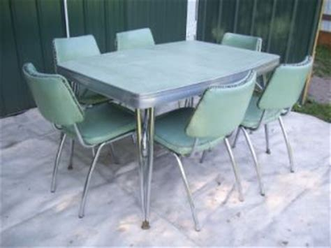 1950 s retro kitch chrome and formica kitchen table with