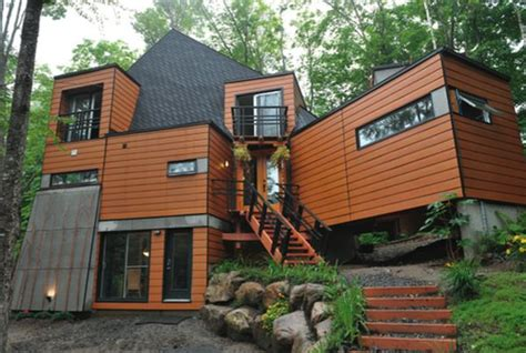 shipping container home  quebec decoist