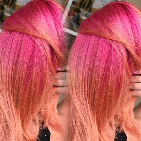 Pink To Peach Hair Colors Ideas