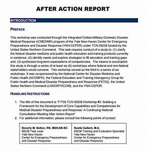 sample after action report 6 documents in pdf with With after training report template