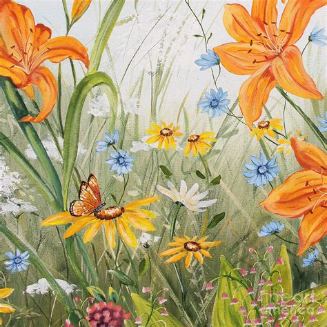 wildflowers jp3254 painting by jean plout