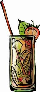 Clipart - Strawberry mojito cocktail