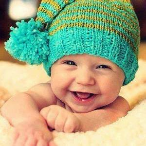 Laughing Cute Baby Boy With Winter Hat | Rugrats | Pinterest