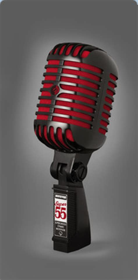 shure introduces special edition super  microphone