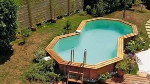 piscine hors sol semi enterree meilleures images d With marvelous terrasse piscine semi enterree 8 piscine bois ronde