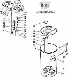 Salt Storage Tank  U0026 Brine Metering Valve Diagram  U0026 Parts