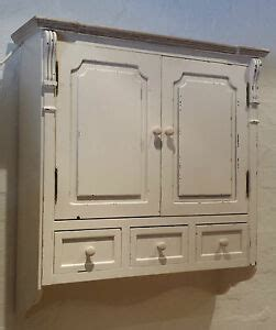 Shabby Chic Wall Cabinets For The Bathroom by Vintage Chic White Antique Effect Wall Cabinet Shabby