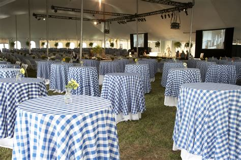 bluewhite checkered table cloths wedding ideas