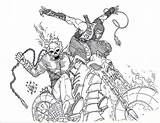 Rider Ghost Coloring Pages Superhero Printable Adults Deadpool Cool sketch template