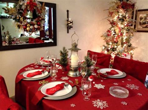 christmas table setting ideas red whitesilver