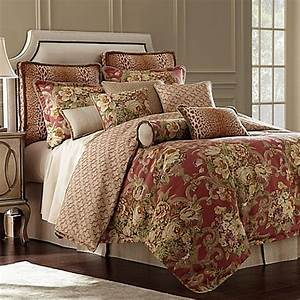 rose tree durham reversible comforter set in coral bed With bed bath and beyond comforter sets on sale