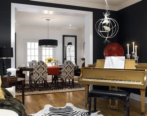 Gold Piano Is Centerpiece Of Black, White