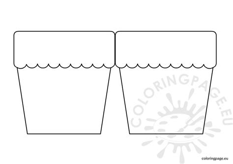 flower pot template flower pot card template coloring page