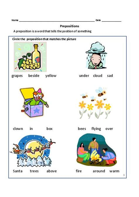 prepositions worksheets worksheets for all and