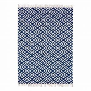 tapis en coton apache bleu marine liv interior With tapis en coton