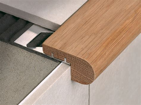 Stair Nosing For Tiled Step by Stair Nosing In Oak Wood With Aluminium Support Stairtec