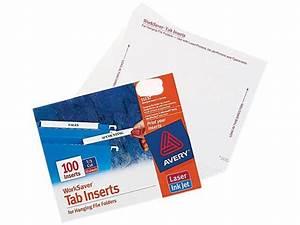 avery 11137 laser inkjet hanging file folder inserts 1 3 With file folder tab inserts