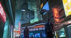 CyberPunk city street by KlausPillon : Cyberpunk
